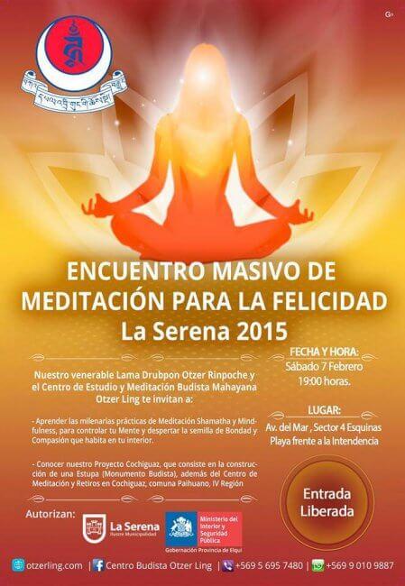 Encuentro Masivo de Meditación para la Felicidad – La Serena – Enero 2015