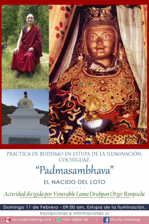 Práctica con Ven. Drubpon Otzer Rimpoche en Estupa de la Iluminación