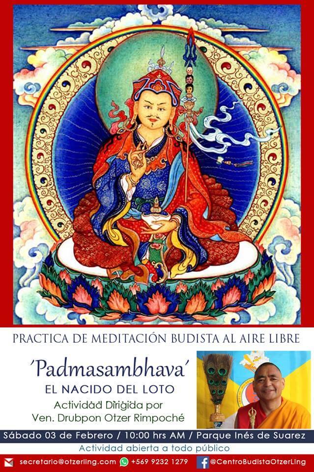 Meditación de Padmasambhava con Ven. Drubpon Otzer Rimpoché