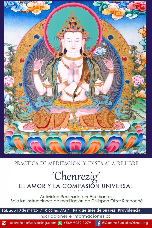 """Meditación Budista al Aire Libre: """"Chenrezig, el Amor y la Compasión Universal"""""""
