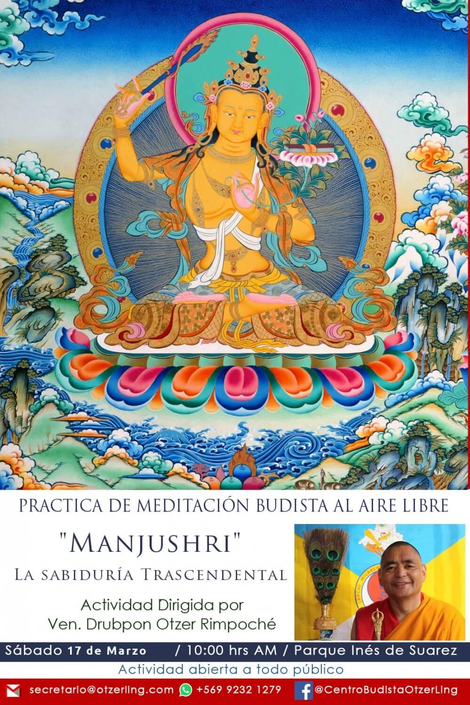 Meditación Budista al Aire Libre: Manjushri, La Sabiduría Trascendental