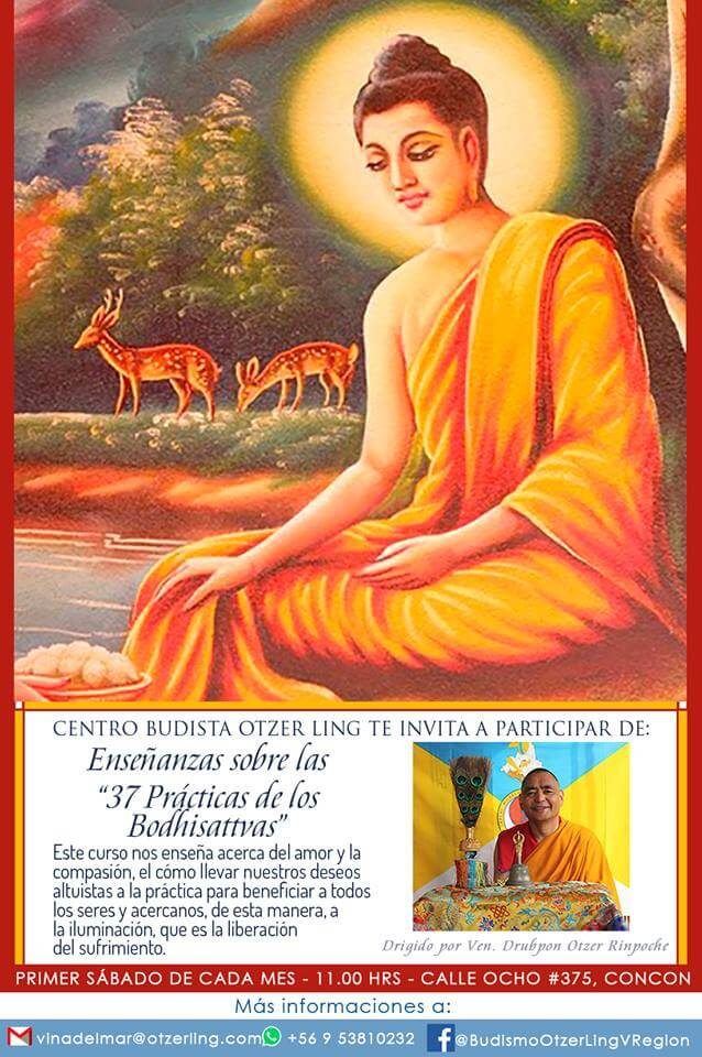 Noviembre: Enseñanzas sobre «Las 37 Prácticas de los Bodhisattvas»