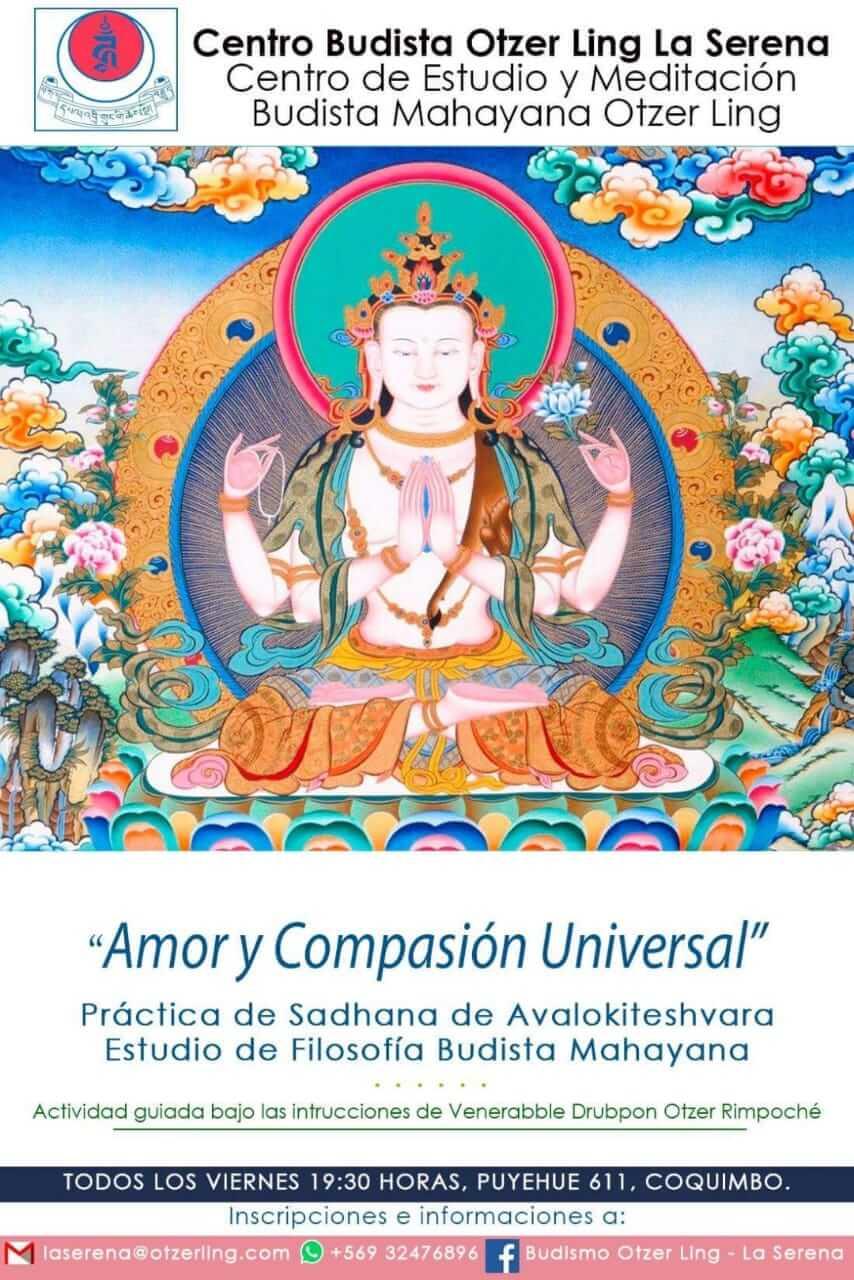 «Amor y Compasión Universal», Prácticas de Meditación de Chenrezig