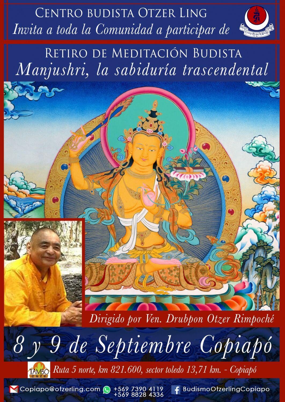 """Retiro de meditación de Manjushri, """"La sabiduría Trascendental"""""""