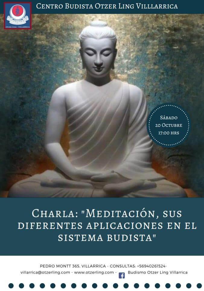 """Charla: """"Meditación, sus diferentes aplicaciones en el sistema Budista"""""""