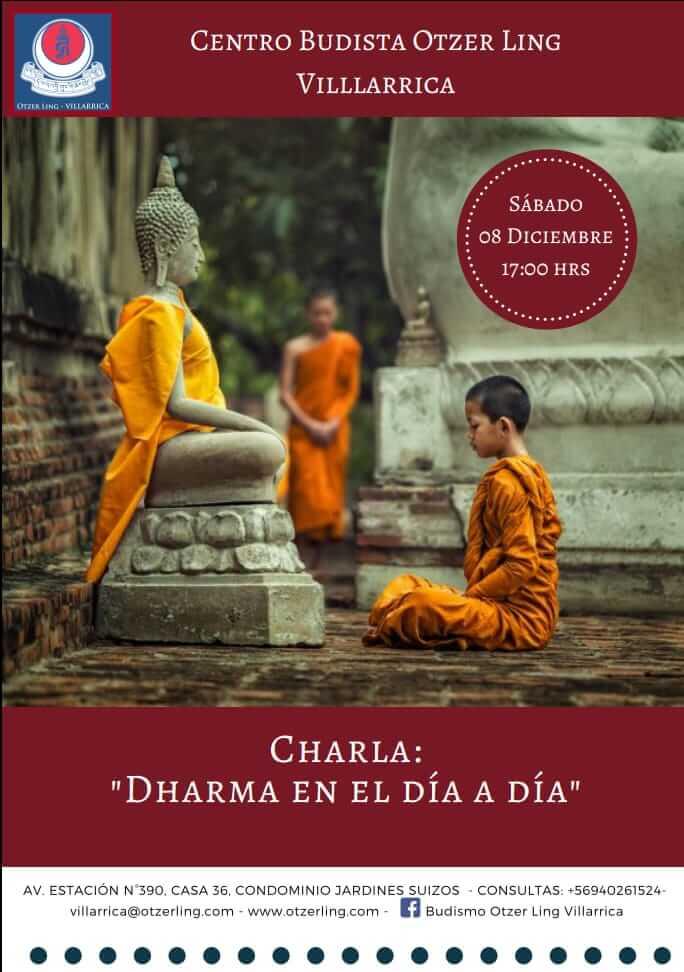 """Charla """"Dharma en el día a día"""""""
