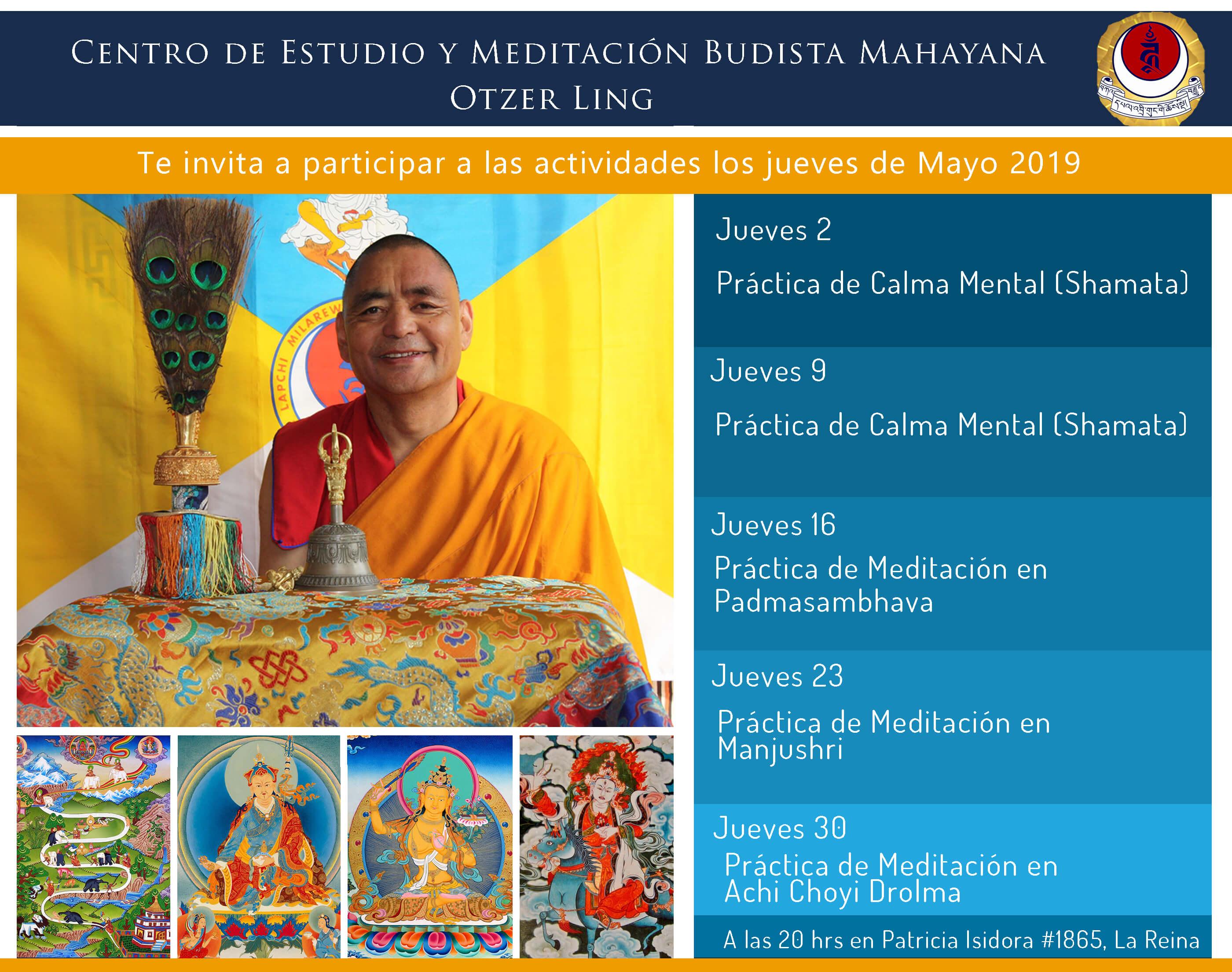 Meditaciones guíadas por Ven. Drubpon Otzer Rinpoche MAYO