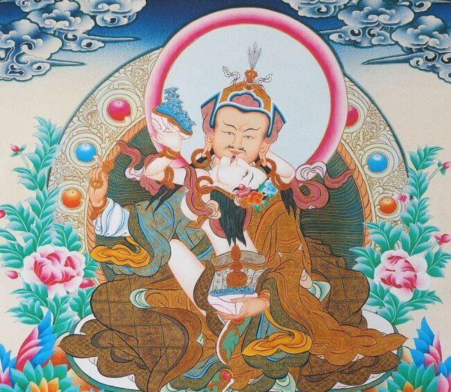 Guru Padmsambhava y su consorte Yeshe Tsogyal