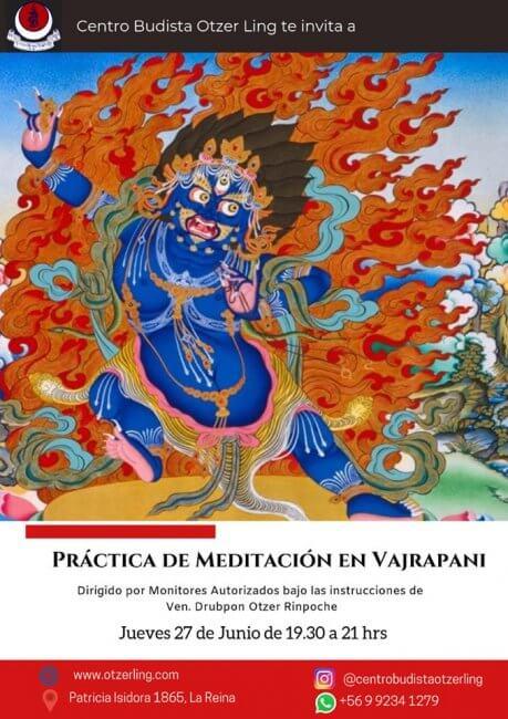 Práctica de Meditación en Vajrapani