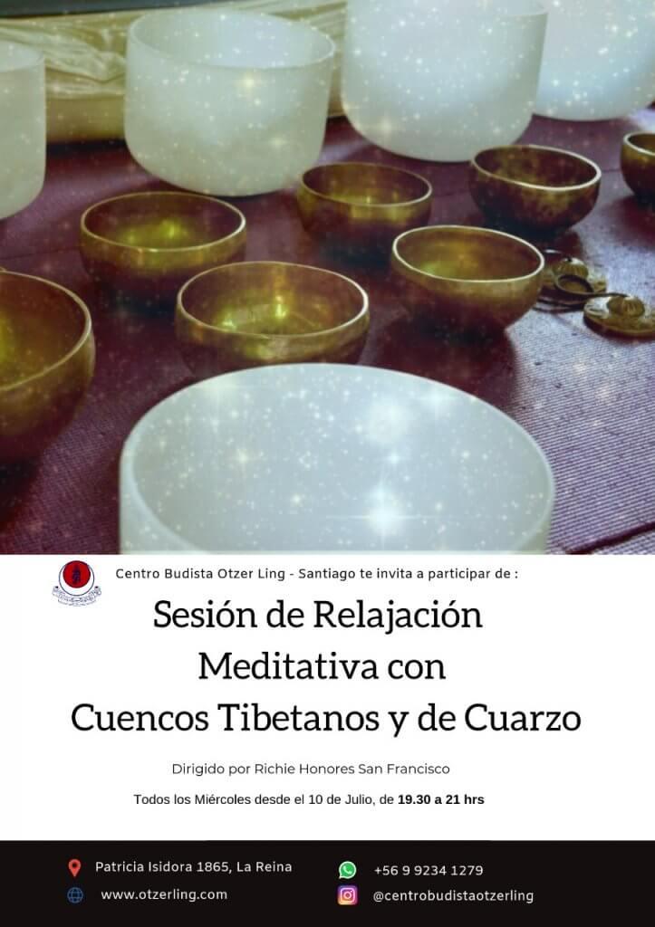 Sesión de relajación meditativa con cuencos tibetanos y de cuarzo