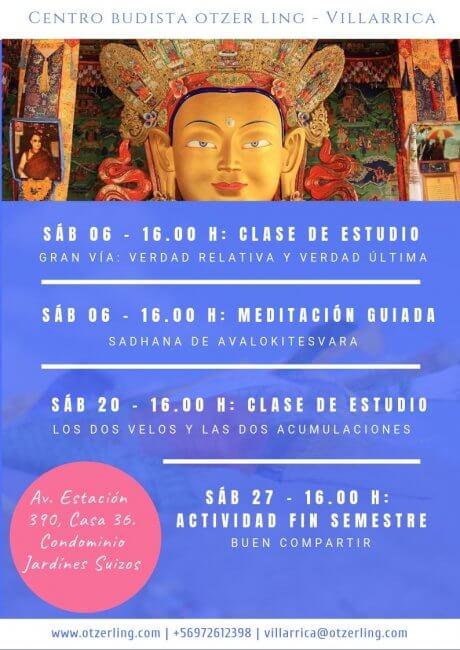 Actividades Budismo Julio
