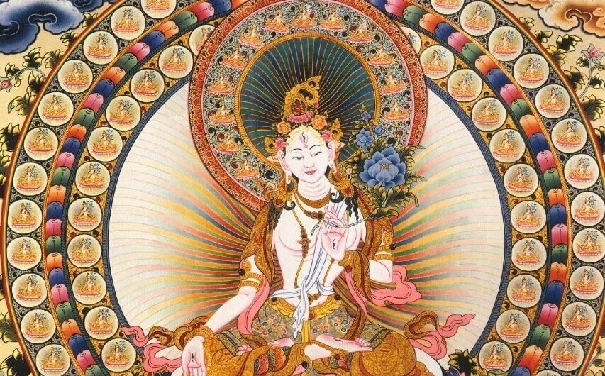 Acumulación de Mantras de Tara Blanca