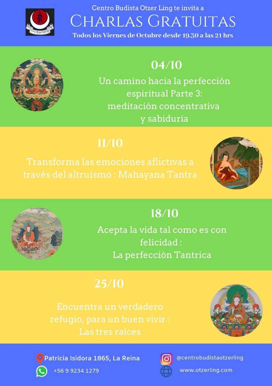 Charlas Budistas Gratuitas Octubre