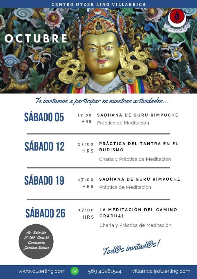 Actividades Budismo Octubre
