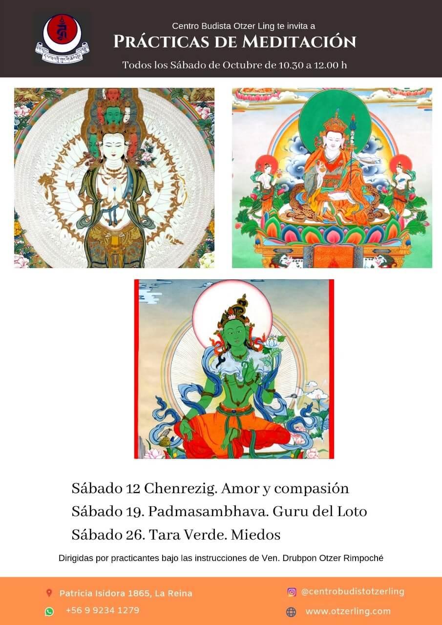 Prácticas de Meditación Tibetanas Budistas de Octubre