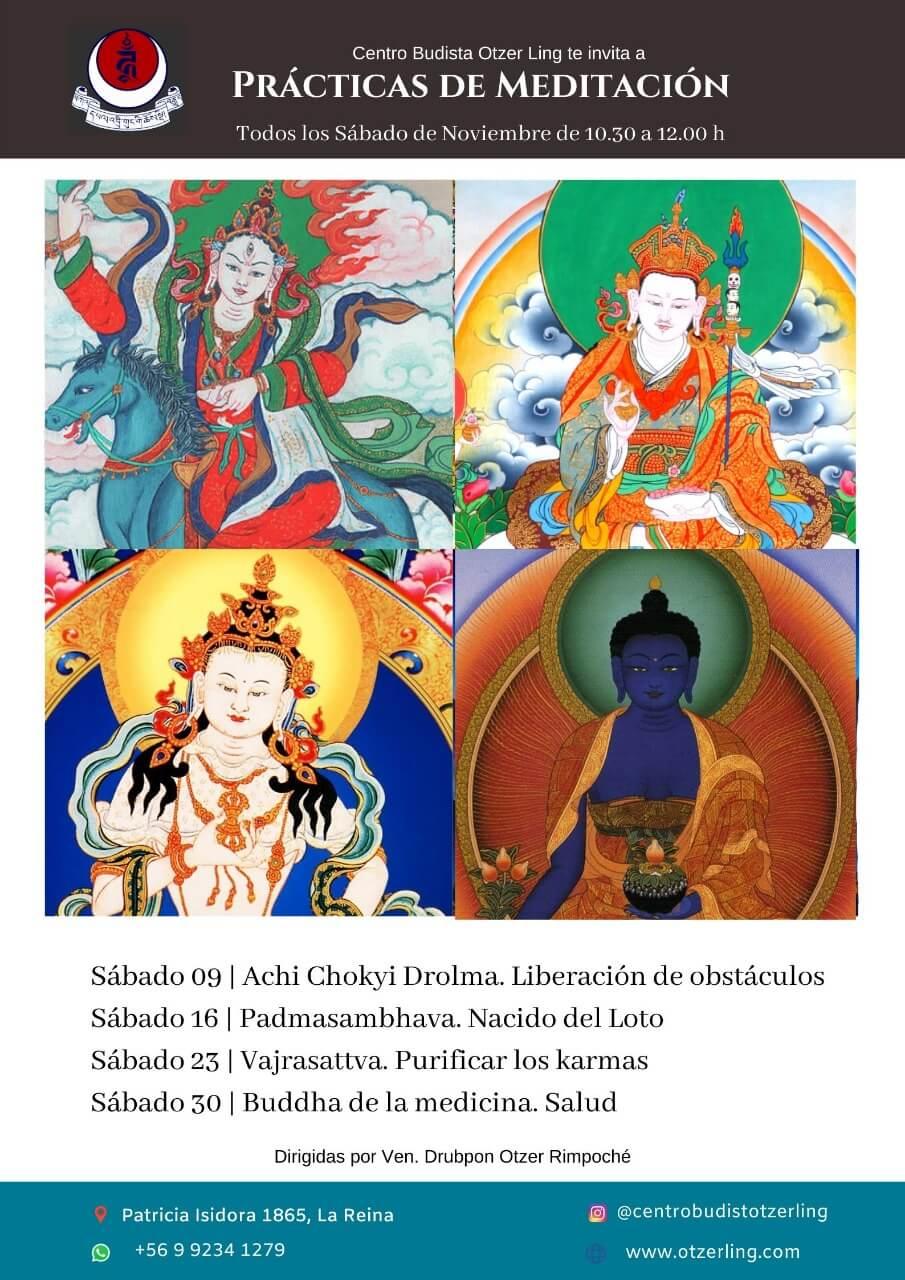 Prácticas de Meditación Budistas Tibetanas Noviembre