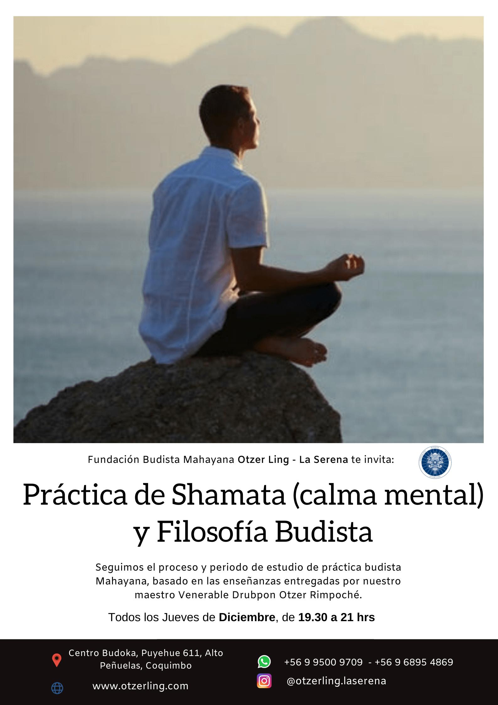 Practica de Calma Mental y Filosofía Budista