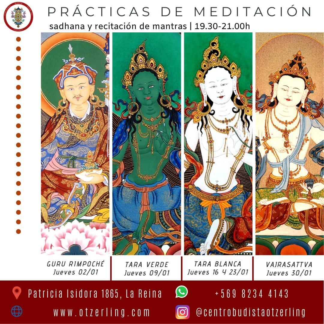 Practicas de Meditacion en Sadhana y Recitacion de Mantras