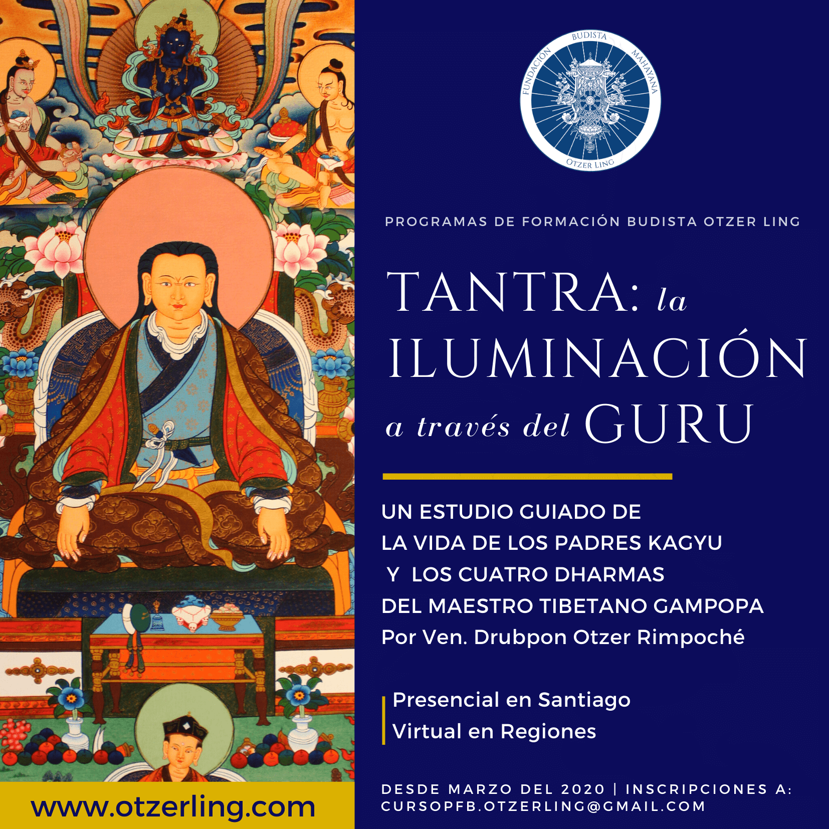 Programa de Formación Budista: Tantra  – La Iluminación a través del Guru