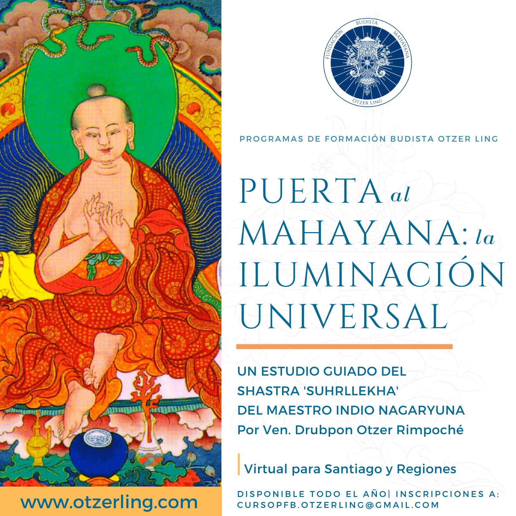 Programa de Formación Budista: Puerta al mahayana – La Iluminación Universal
