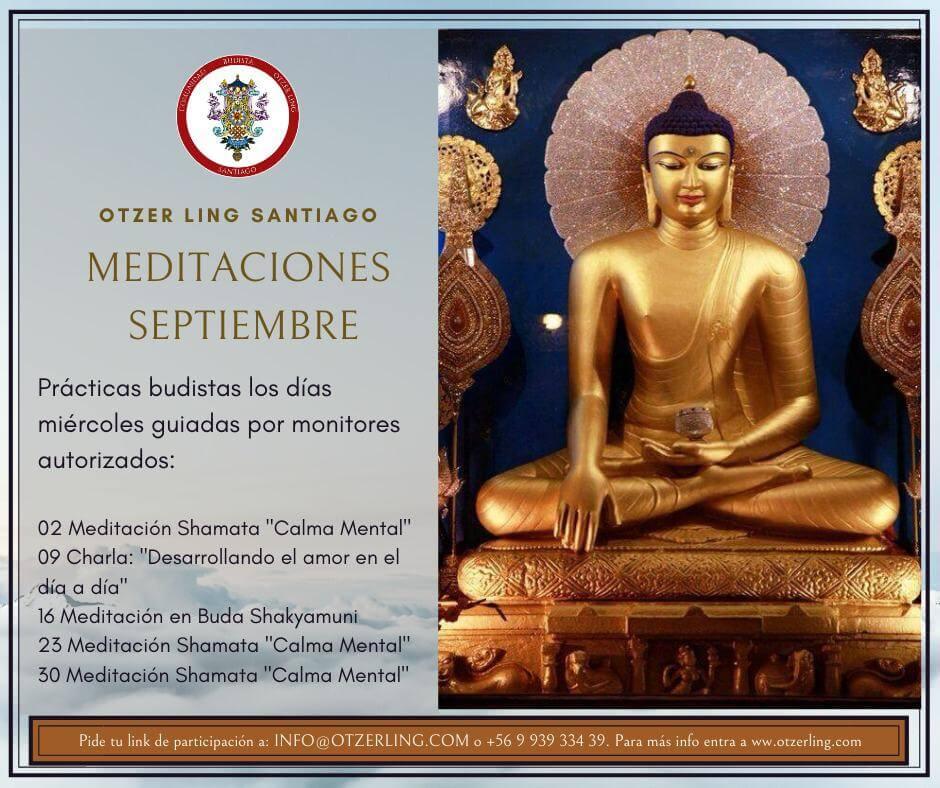 Charlas y Prácticas de Meditación Budista todos los Miércoles de Septiembre