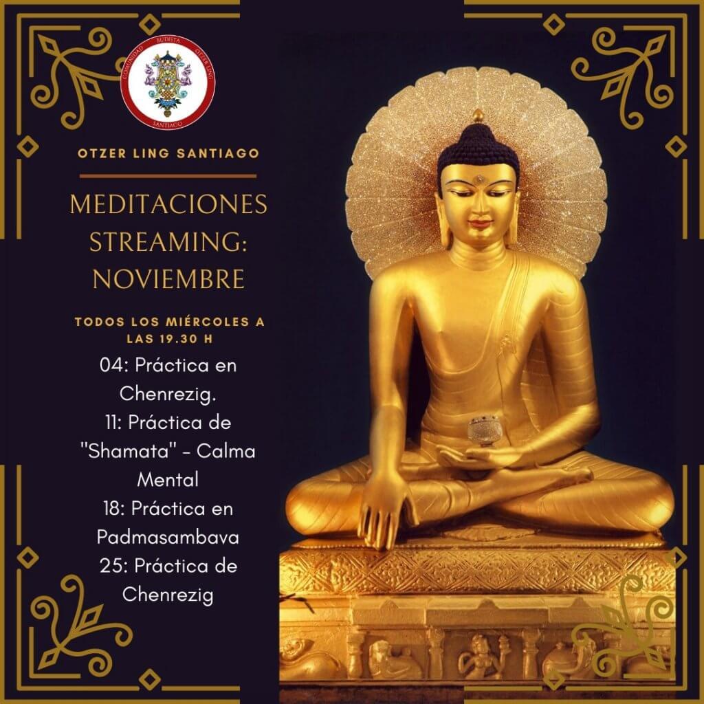 Meditaciones Streaming Noviembre